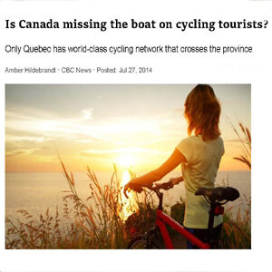 Cycling tourists in Canada